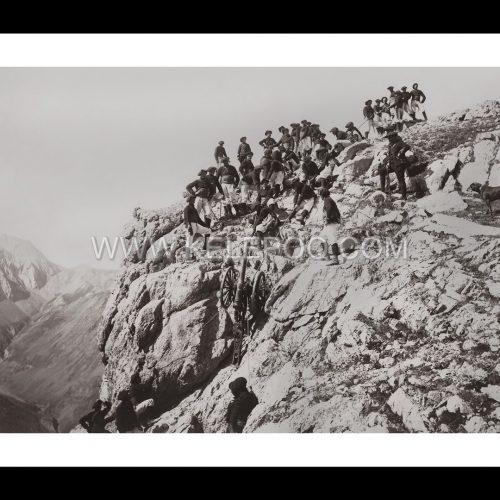 Photo d'époque Montagne n°100 - Chasseurs Alpins en manoeuvres
