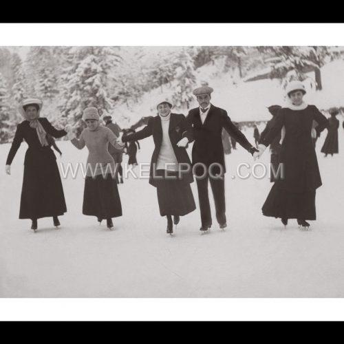 Photo d'époque montagne n°102 - patinage