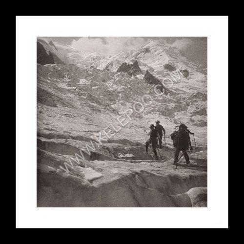 Photo d'époque montagne n°104 - Glacier du Mont-Blanc - Chamonix