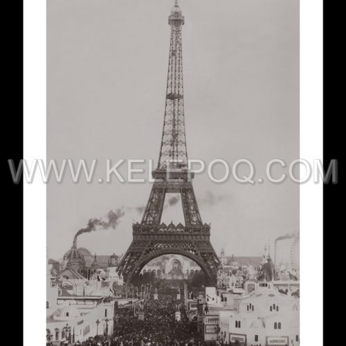 Photo d'époque Paris n°21 - Tour Eiffel Exposition Universelle 1900