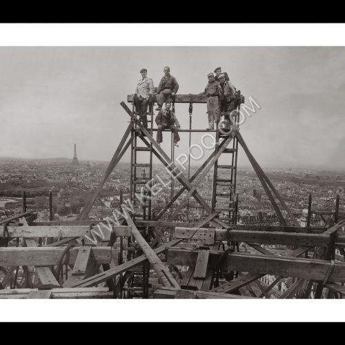 Photo d'époque Paris n°27 - Vue sur la Tour Eiffel et les Invalides