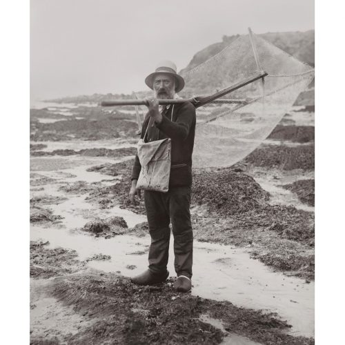 Photo d'époque pêche n°78 - pêche à la crevette