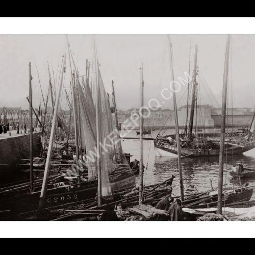 Photo d'époque Concarneau n°03 - le port