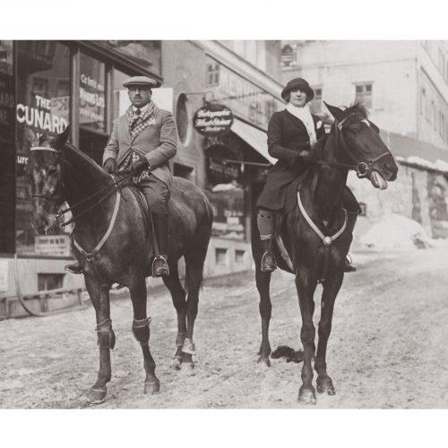 Photo d'époque Equitation n°54 - couple de cavalier