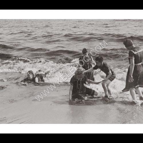 Photo d'époque Mer n°60 - Bain de mer - Concarneau