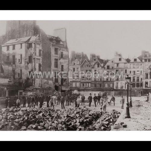 Photo d'époque Paris n°29 - rue Monge - 1889