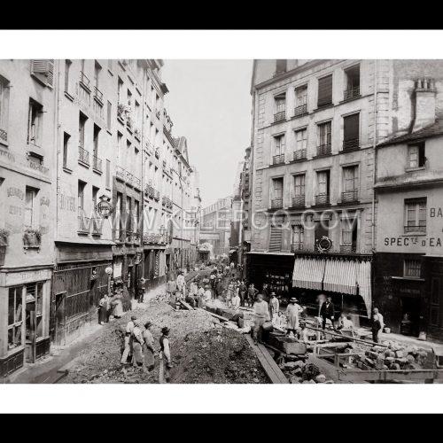 Photo d'époque Paris n°30 - rue de la Bucherie - 1889