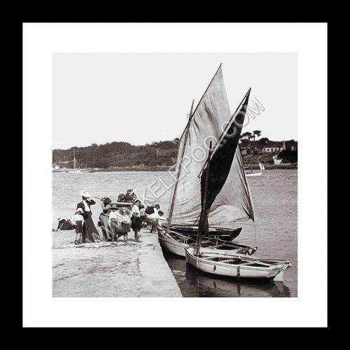 Photo d'époque Benodet n°01 - cale port