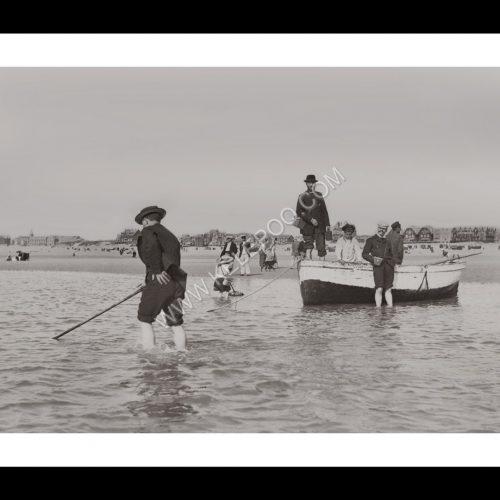 Photo d'époque Boulogne n°02 - pêche à la crevette