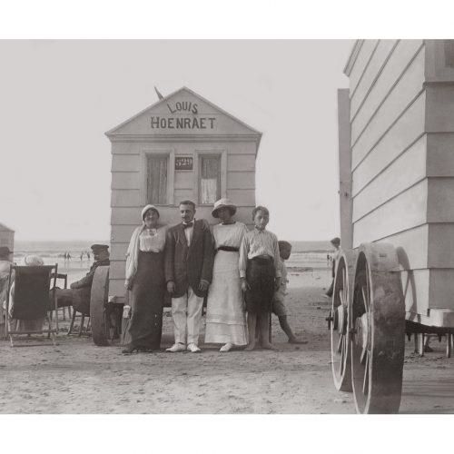 Photo d'époque Mer n°67 - cabines de bain - plages du Nord