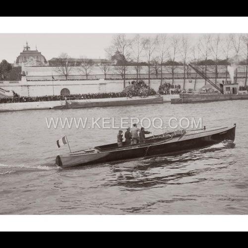 Photo d'époque Paris n°31 - Bateau sur la Seine en 1913