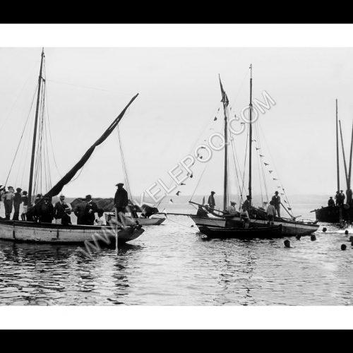 Photo d'époque Beg-Meil n°02 - Fêtes du 15 Aout 1905 - lancé du canard