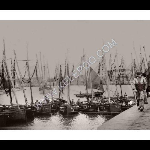 Photo d'époque Concarneau n°08 - port de pêche