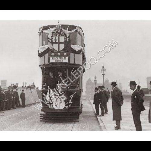Photo d'époque Londres n°05 - Inauguration élargissement Blackfriars Bridge - photographe Victor Forbin