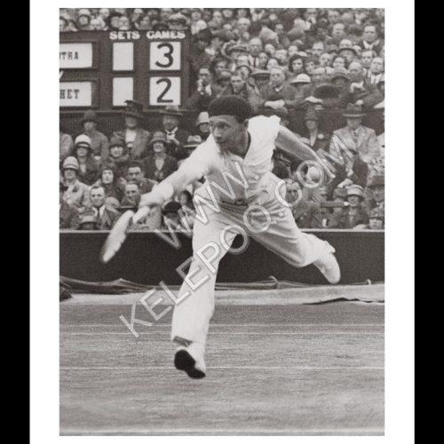 Photo d'époque SPORT n°65 - joueur tennis français Jean Borotra - finale Wimbledon 1927 - photographe Victor Forbin