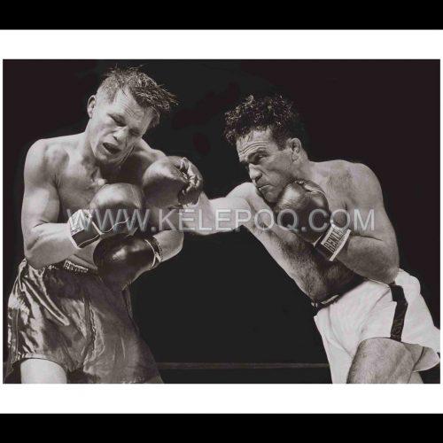 Photo d'époque SPORT n°68 - Championnat du monde des poids moyen 1948 entre Marcel Cerdan et Tony Zale
