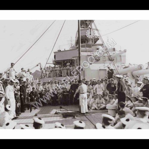 Photo d'époque Sur l'eau n°54 - équipage Marine Nationale