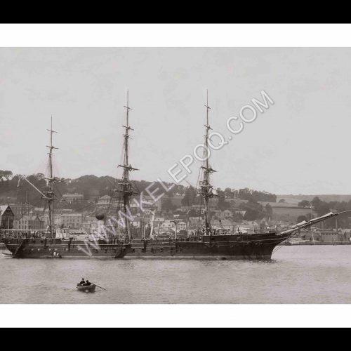 Photo d'époque Sur l'eau n°56 - Marine Nationale Aviso transport Le Bougainville 1897