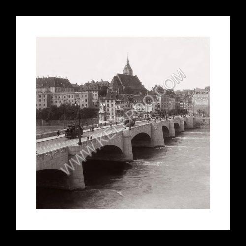 Photo d'époque Bâle n°01 - Pont de Mittlere