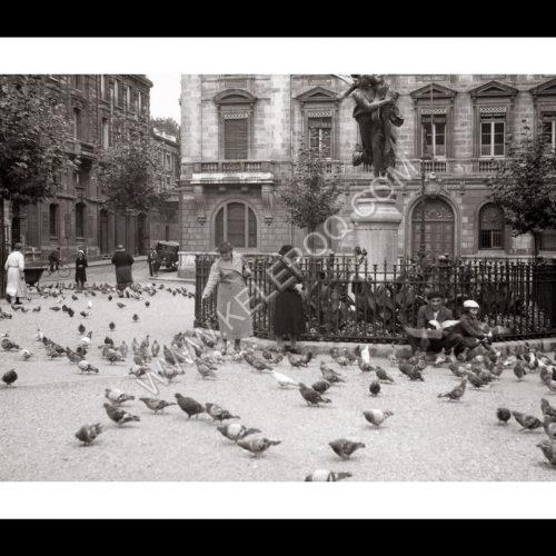 Photo d'époque Bordeaux n°07 - statue Gloria Victis de Mercié - place Jean Moulin