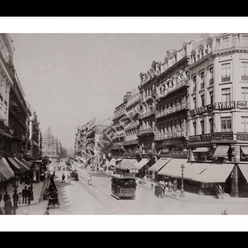 Photo d'époque Bruxelles n°03 - Boulevard Anspach