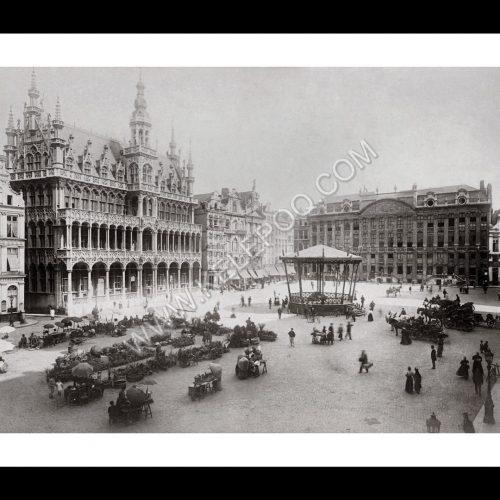 Photo d'époque Bruxelles n°04 - La grande place