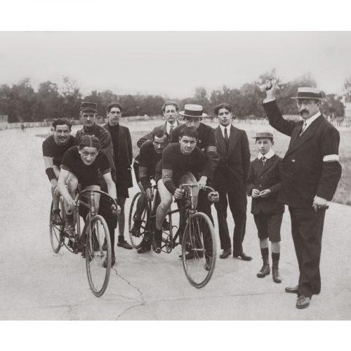 Photo d'époque Cycles n°48 - course cycliste
