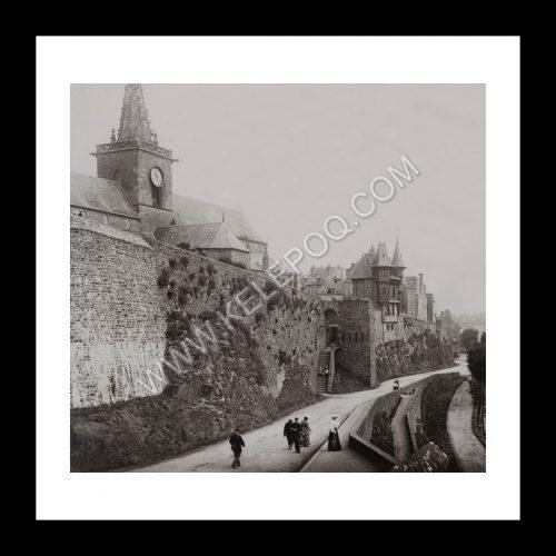 Photo d'époque Granville n°07 - les remparts