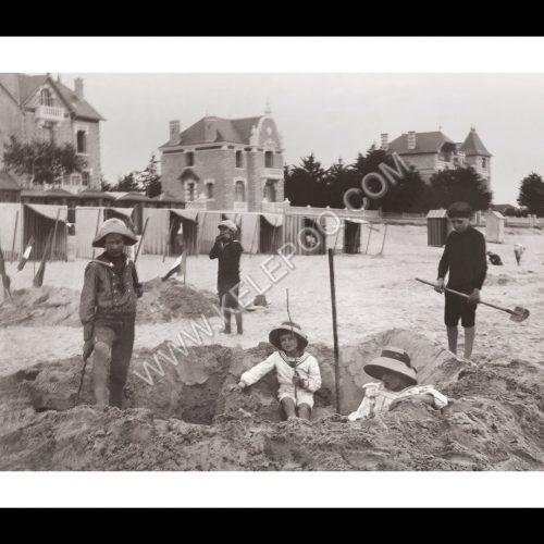 Photo d'époque La Baule n°01 - jeux de plage 1907