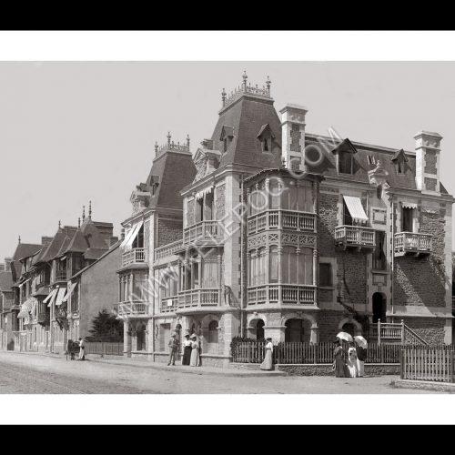 Photo d'époque La Baule n°02 - maisons traditionnelles bauloises