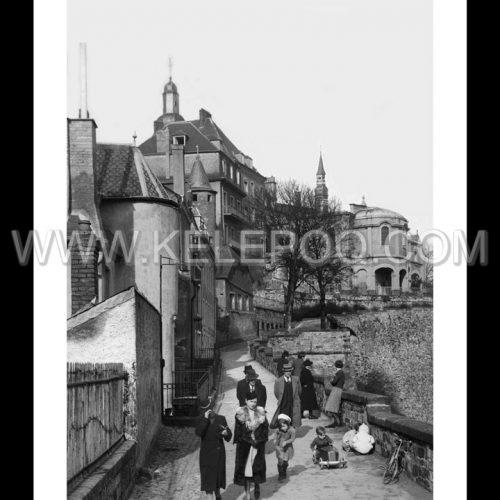 Photo d'époque Luxembourg n°04 - promenade de la Corniche - 1930 - photographe Batty Fischer