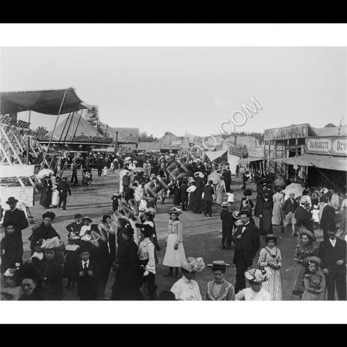 Photo d'époque Luxembourg n°06 - Schueberfouer en 1902 - photographe Batty Fischer