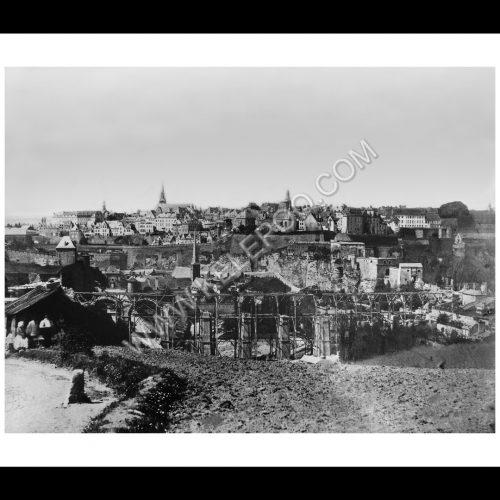 Photo d'époque Luxembourg n°08 - vue de la rue de Trèves - Luxembourg ville - 1859