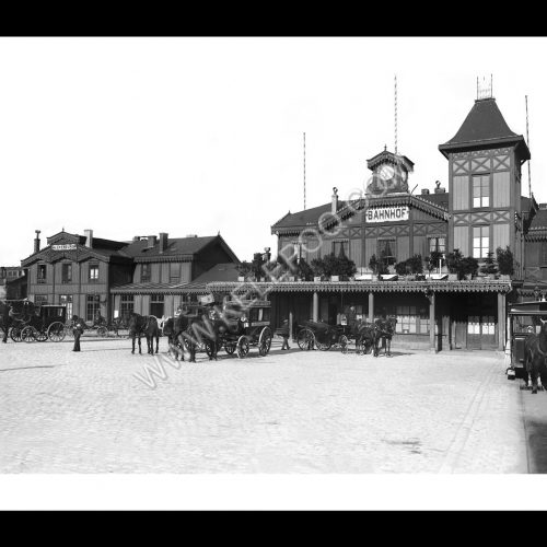 Photo d'époque Luxembourg n°09 - Place de la Gare