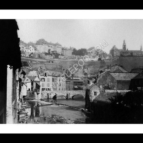 Photo d'époque Luxembourg n°10 - Grund pris sur les écluses - photographe Dominique Kuhn
