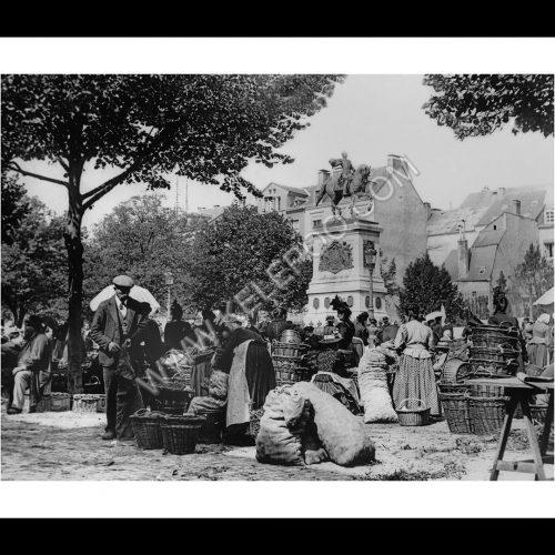Photo d'époque Luxembourg n°11 - marché Place Guillaume - 1898 - photographe Batty Fischer