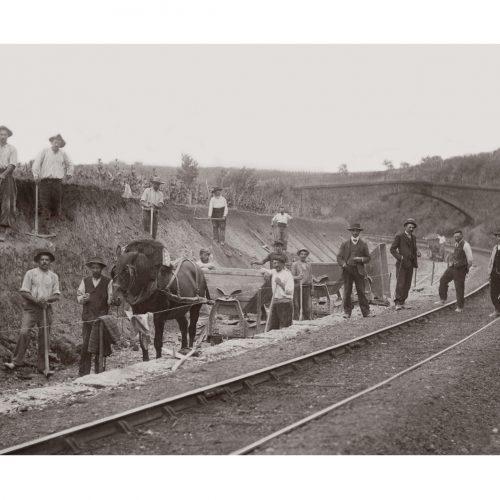Photo d'époque Métiers n°41 - Ouvriers de chantier