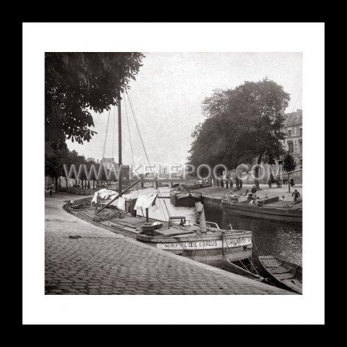 Photo d'époque Nantes n°04 - les quais de l'Erdre