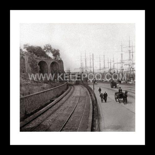 Photo d'époque Nantes n°05 - les quais et le port