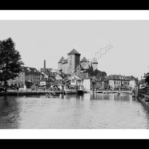 Photo d'époque Annecy n°02 - centre ville - vue sur le château d'Annecy