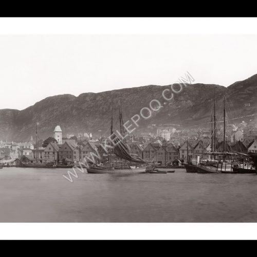 Photo d'époque Bergen n°01 - port de Bergen