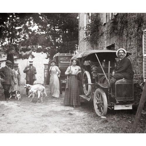 Photo d'époque Chasse n°07 - départ de chasse en famille