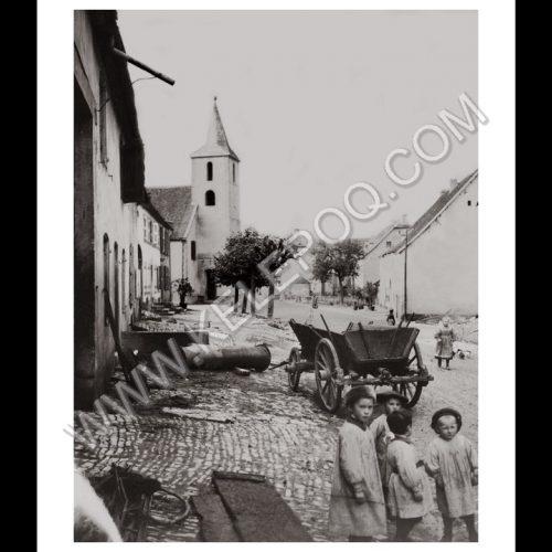 Photo d'époque Campagne n°26 - enfants de la campagne devant une charrette en bois