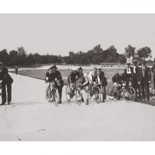 Photo d'époque Cycles n°49 - course cycliste