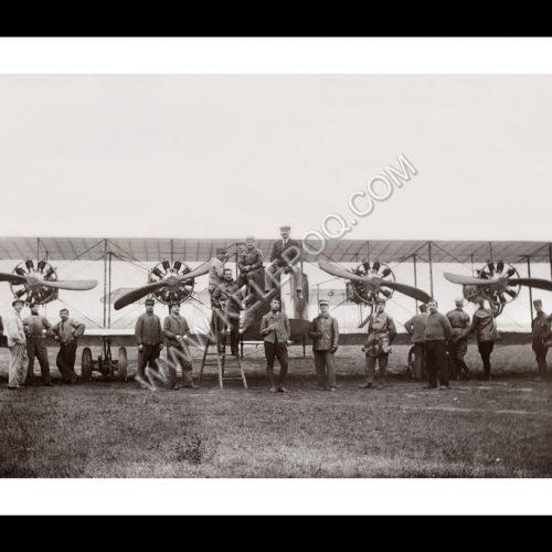 Photo d'époque Dans les airs n°27 - avion ancien 4 hélices