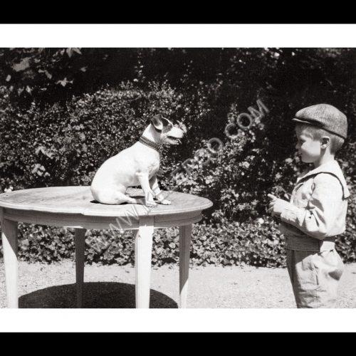 Photo d'époque Enfance n°29 - enfant dresseur de chien