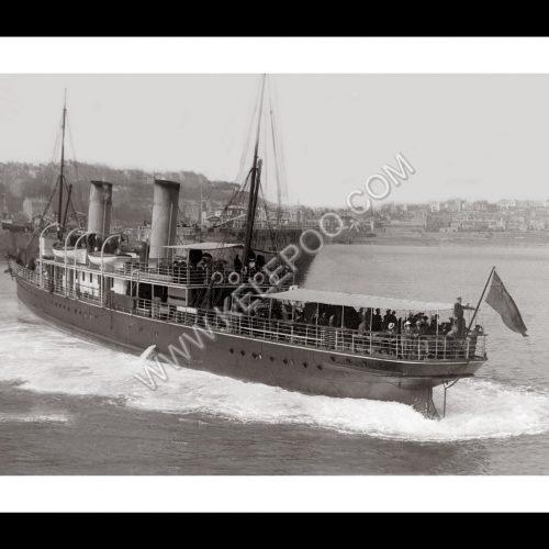 Photo d'époque Granville n°09 - navire britannique Le Victoria en 1901