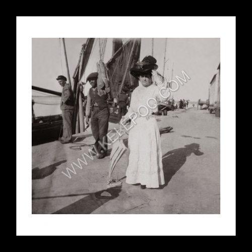 Photo d'époque Le Croisic n°01 - ballade sur le port du Croisic