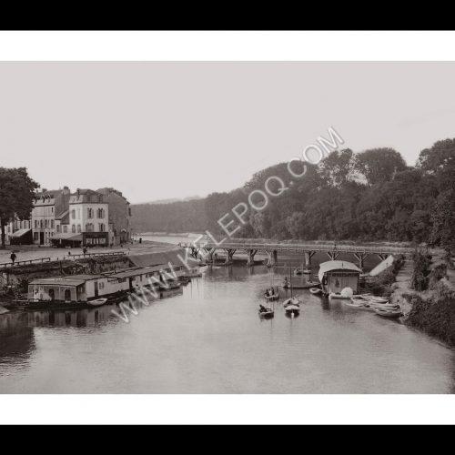 Photo d'époque L'Isle-Adam n°01 - Rives de l'Oise et île de la Cohue
