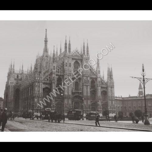 Photo d'époque Milan n°01 - Cathédrale sur la piazza del Duomo